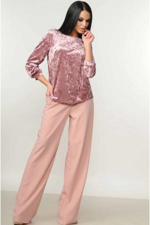 Костюм «Мирей-Велюр» розового цвета
