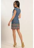 Сукня «Фортуна-джинс» з кольоровою вишивкою