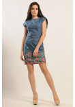 Сукня «Фортуна» з кольоровою вишивкою