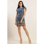 Платье «Фортуна-джинс» с цветной вышивкой