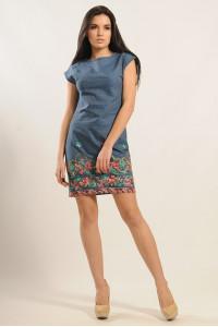 Платье «Фортуна» с цветной вышивкой