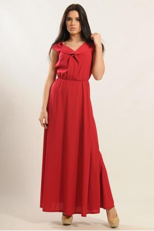 Платье «Мира-Макси» красного цвета