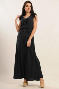 Платье «Мира-Макси» черного цвета