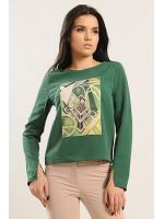 Блуза «Париж» зеленого цвета