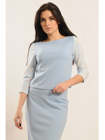 Блуза «Вивьен» голубого цвета