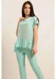 Блузка «Бейліз» кольору м'яти