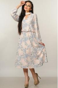 Платье «Бохо-миди» цвета пудры
