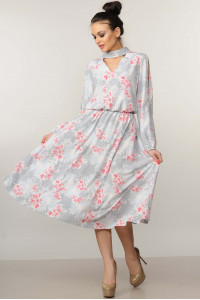 Сукня «Бохо-міді» сірого кольору
