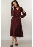 Сукня «Бохо-міді» бордового кольору
