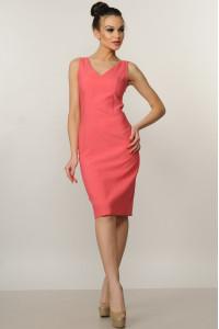 Платье «Лори» кораллового цвета