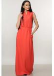 Платье «Ваниль» кораллового цвета