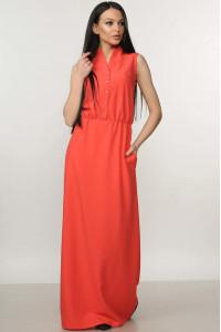 Сукня «Ваніль» коралового кольору