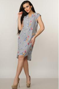 Платье «Лана» серого цвета