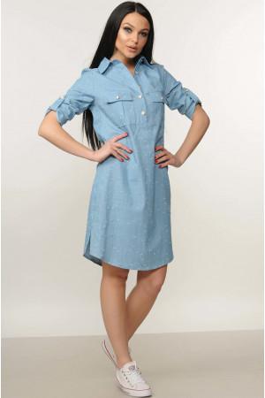 Платье «Тейли» голубого цвета