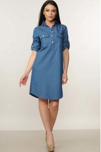 Платье «Тейли» синего цвета