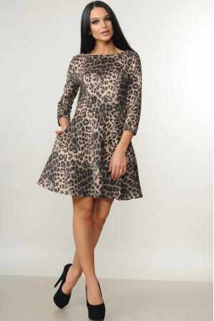 Платье «Лайма» леопардовый принт