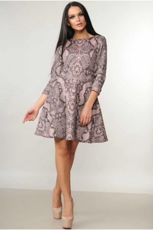 Сукня «Лайма»  рожевий принт
