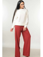 Костюм «Мікаель-Шер»: бордові брюки та світшот білого кольору