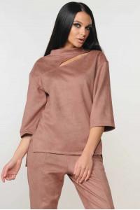 Блуза «Роу» лилового цвета