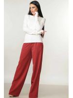 Костюм «Бэйс-Шэр»: бордовы брюки и белая кофта