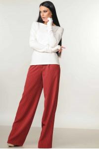 Костюм «Бейс-Шер»: бордові брюки та  кофта білого кольору