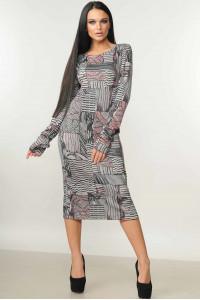 Платье «Мишель» серого цвета