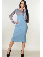 Платье «Снежана» голубого цвета