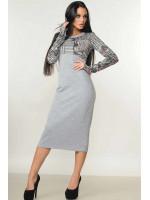 Сукня «Сніжана» сірого кольору