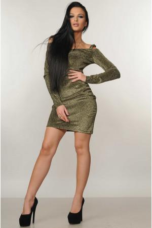 Платье «Злата»  цвета черного золота