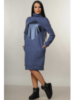 Платье «Ромб» синего цвета