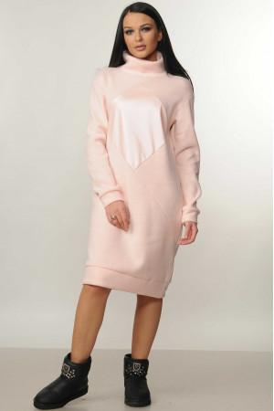 Платье «Ромб» розового цвета