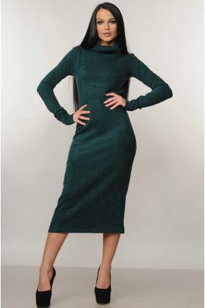 Платье «Арктика» изумрудного цвета