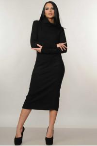 Платье «Арктика» черного цвета