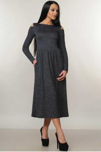Платье «Венди» темно-синего цвета