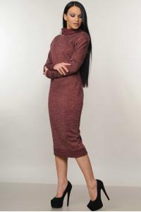Сукня «Адель» бордового  кольору