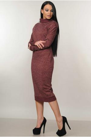 Платье «Адель» бордового  цвета