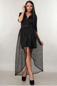 Платье «Вонг» черного цвета