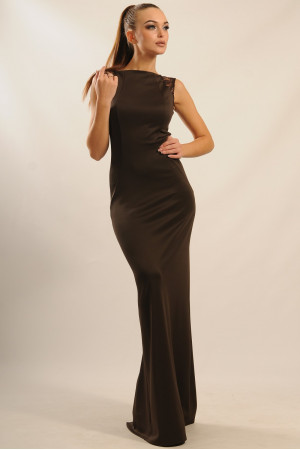 Платье «Венеция» шоколадного цвета