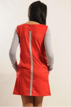 Платье «Киви» красного цвета
