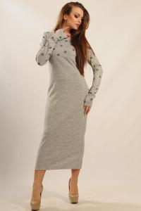 Платье «Снежана» цвета серый меланж