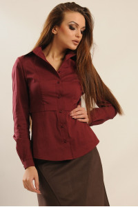Блуза «Пінк» бордового кольору