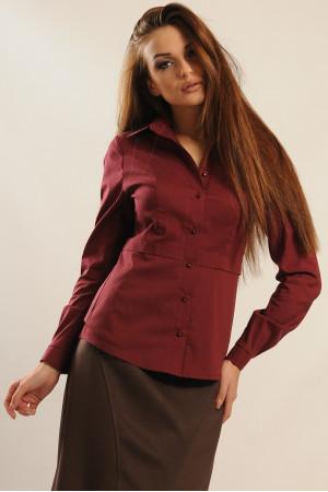 Блуза «Пинк» бордового цвета