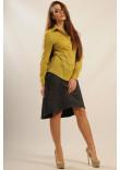 Блуза «Пінк» оливкового кольору