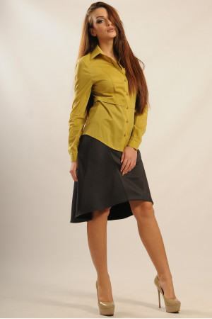 Блуза «Пинк» оливкового цвета