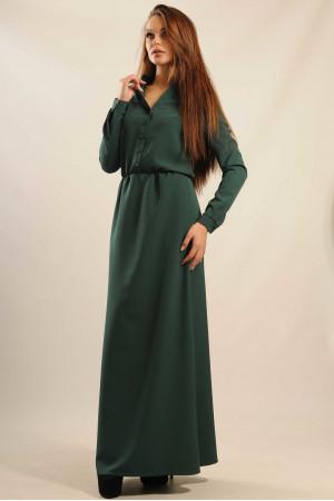 Платье «Ваниль-Макси» зеленого цвета