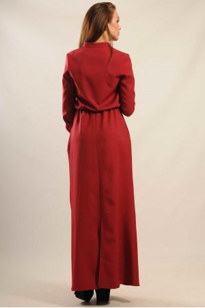 Сукня «Ваніль-Максі» бордового кольору