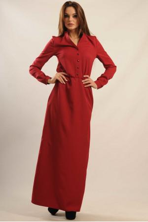 Платье «Ваниль-Макси» бордового цвета
