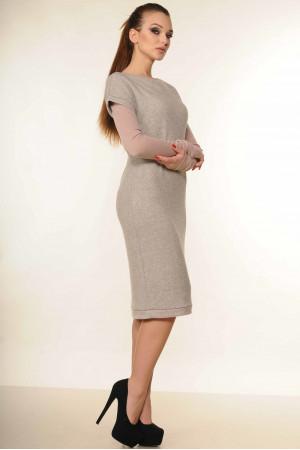 Платье «Катрин» серого цвета