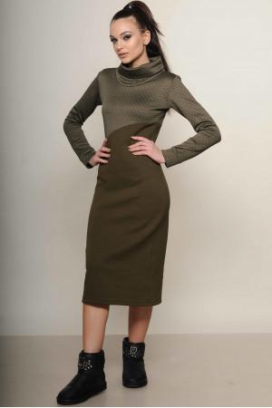 Платье «Фроузен» цвета хаки
