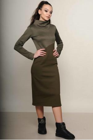 Сукня «Фроузен» кольору хакі